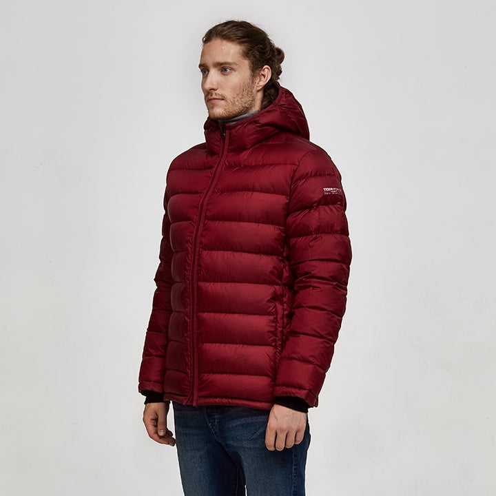 Men's Winter Casual Hooded Warm Parka With Pockets