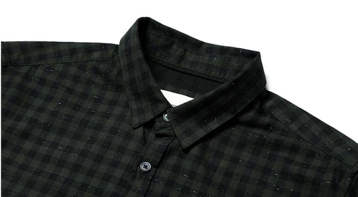 Men's Spring Long-Sleeved Plaid Shirt