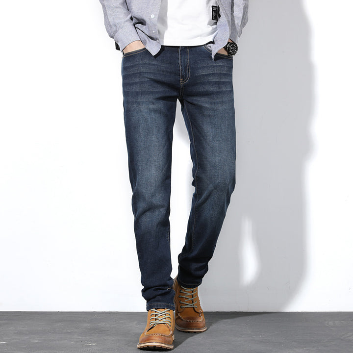 Men's Spring/Autumn Casual Loose Stretch Straight Jeans