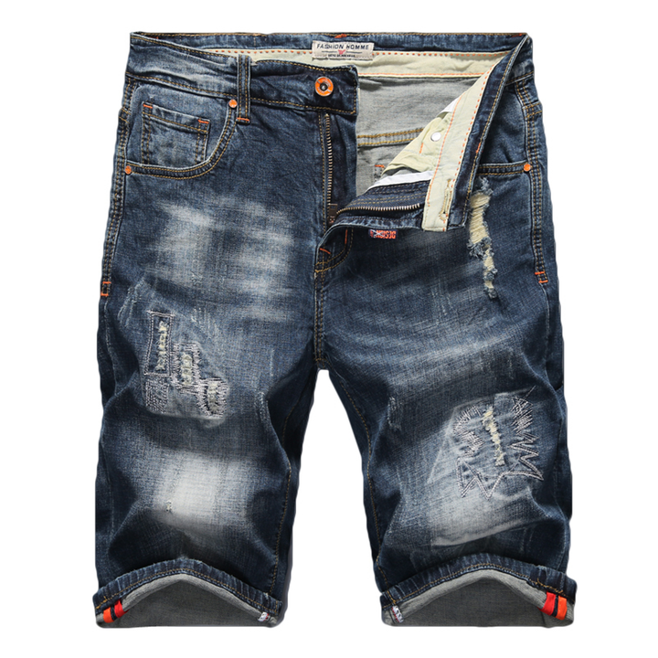 Men's Summer Stretchy Ripped Denim Shorts