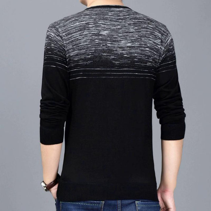 Men's Thin Striped Pullover