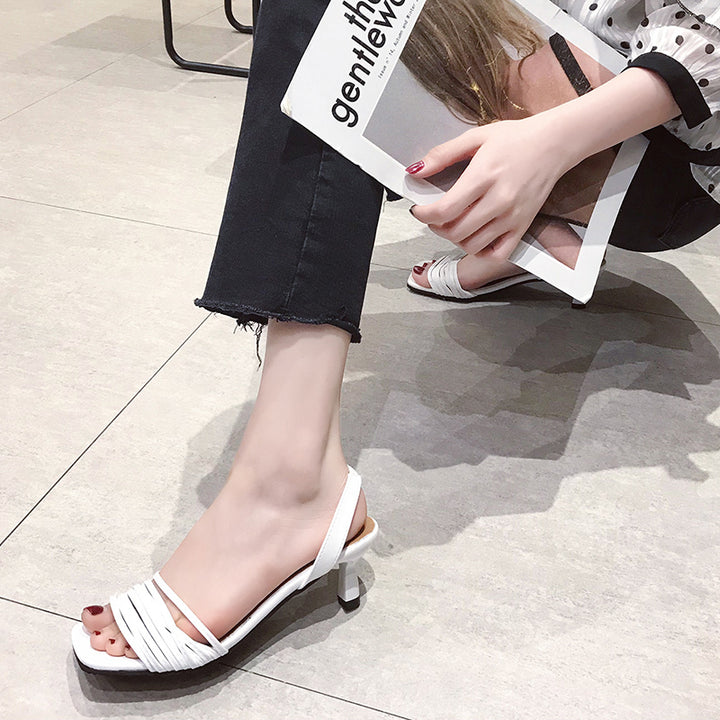 Women's Summer Sandals With Peep Toe
