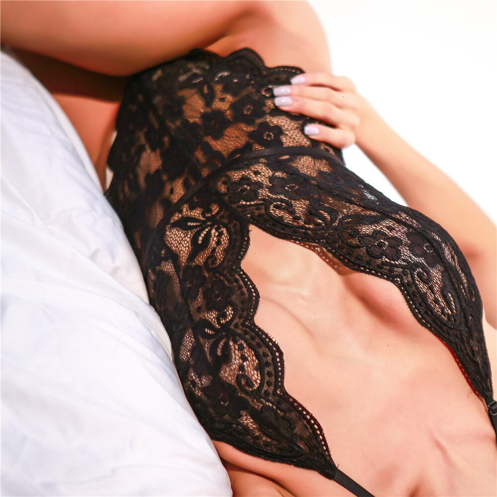 Women's Summer Polyester Skinny Lace Bodysuit