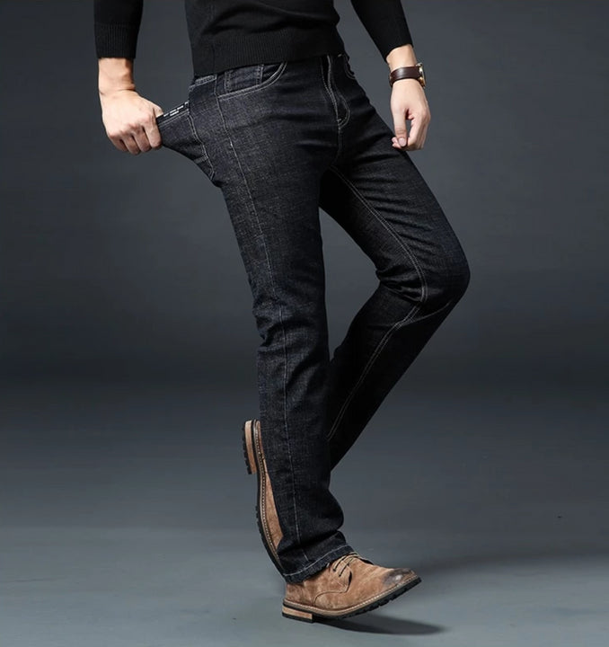 Men's Casual Elastic Slim Jeans | Plus Size