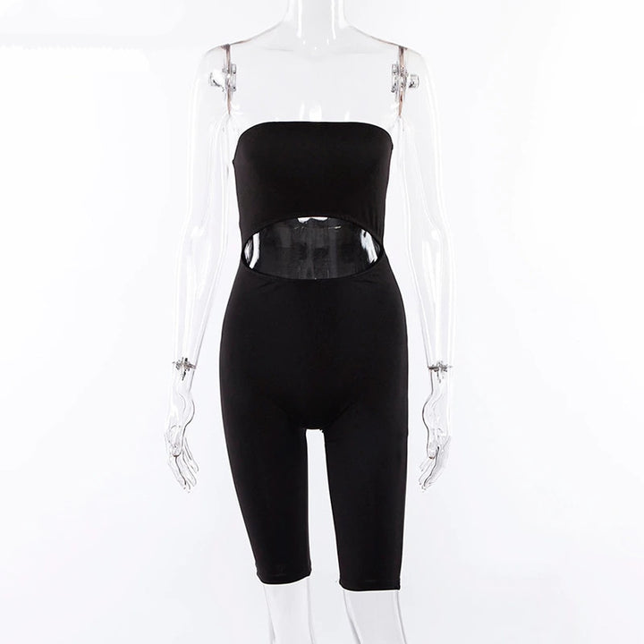 Women's Casual Polyester Backless Off-Shoulder Fitness Suit