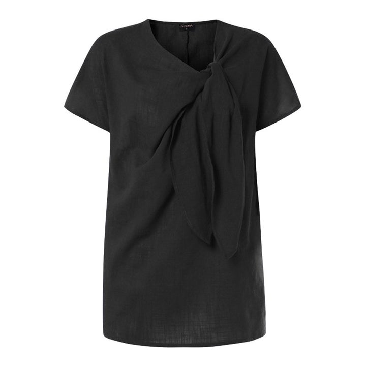 Women's Summer Casual Polyester O-Neck Blouse