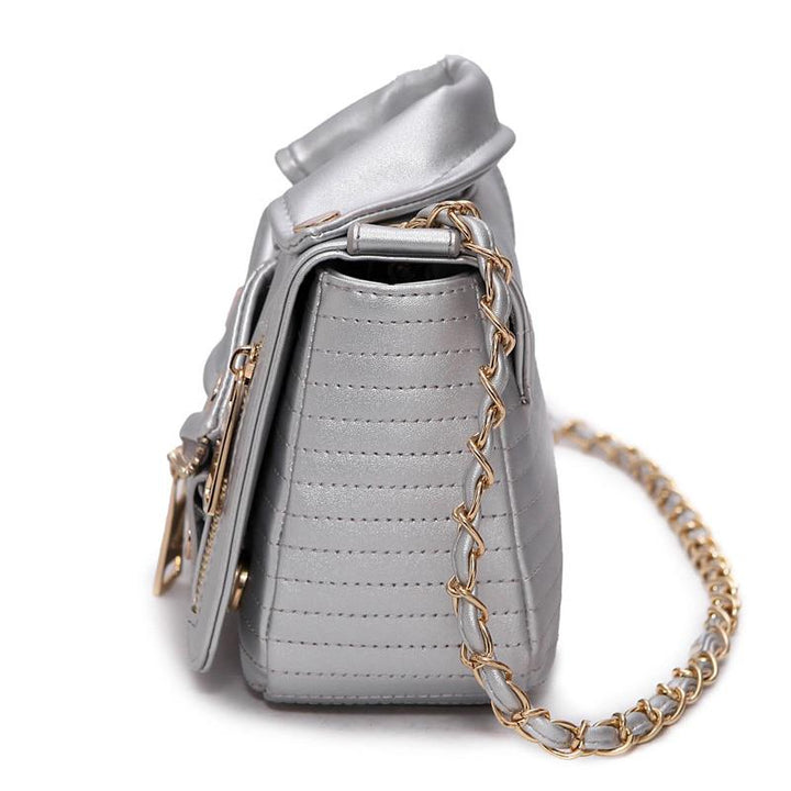 Women's Leather Shoulder Bag With Rivets