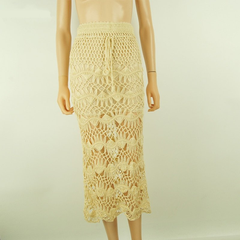 Women's Summer Knitted Cotton Beach Skirt
