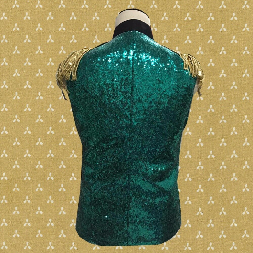 Men's Waistcoat With Epaulets And Sequins