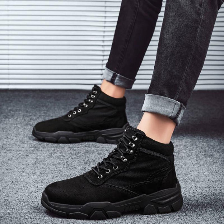 Men's Winter Casual Ankle Boots With Fur | Plus Size