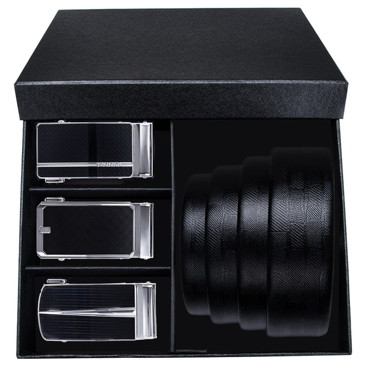 Men's Genuine Leather Set | Belt With Automatic Buckle