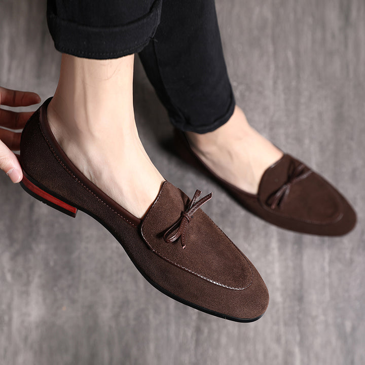 Men's Casual Leather Loafers With Pointed Toe
