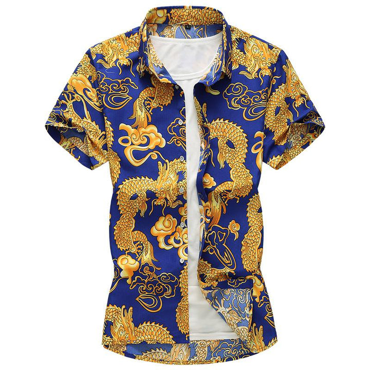 Men's Summer Casual Short Sleeved Shirt | Plus Size