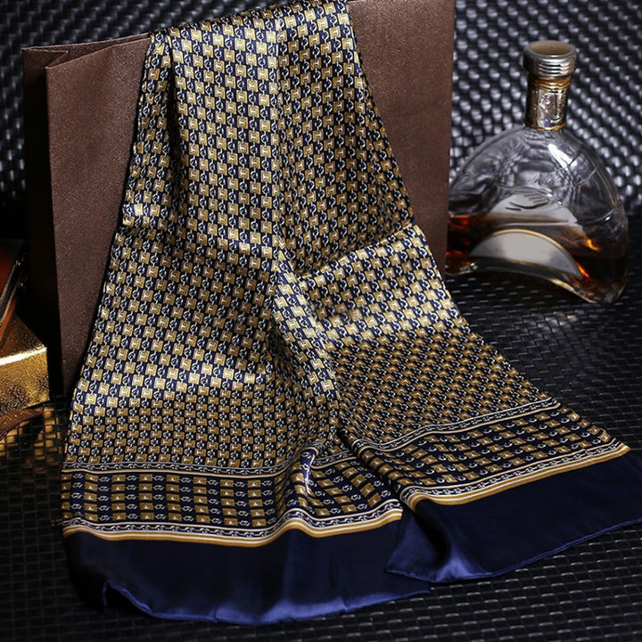 Men's Casual Silk Scarf With Print
