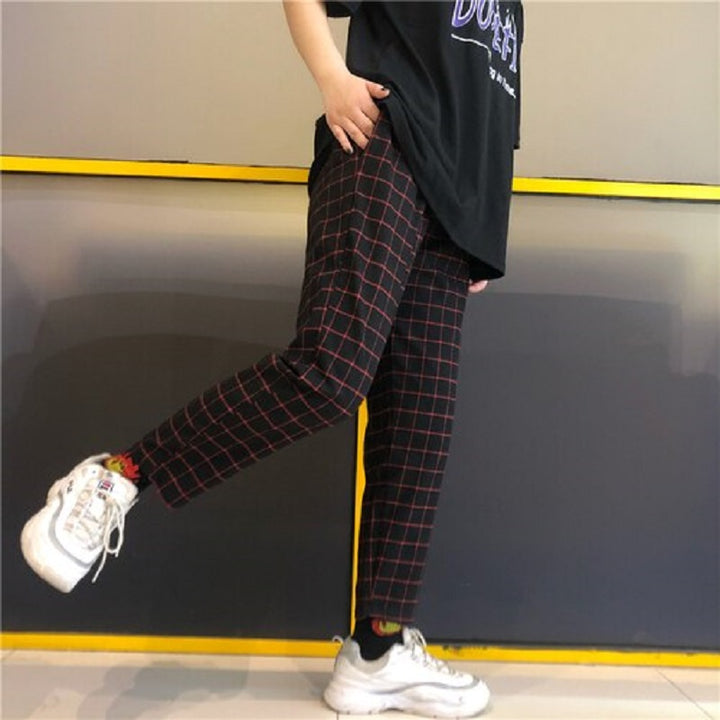 Men's Casual Polyester Loose High-Waist Joggers