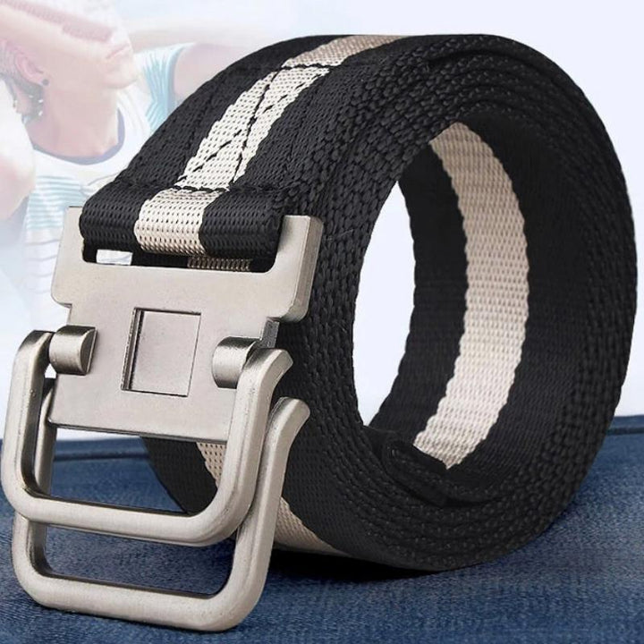 Men's Canvas Belt With Metal Buckle