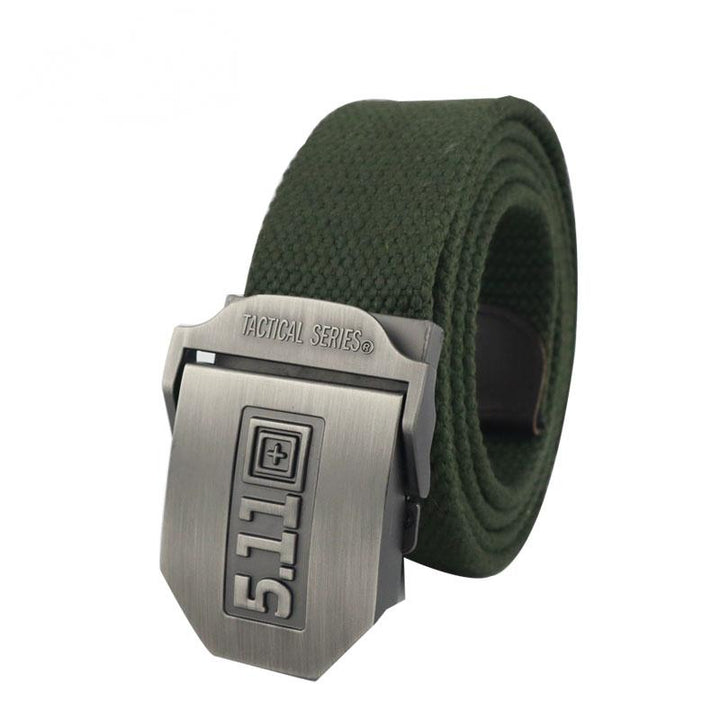 Men's Casual Canvas Belt With Automatic Buckle