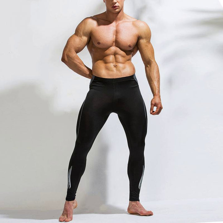 Men's Compression Leggings With Elastic Waist