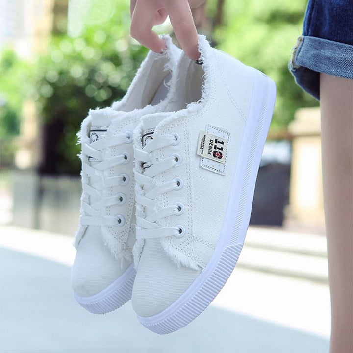 Women's Casual Canvas Sneakers With Rubber Outsole