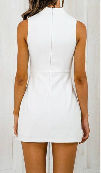 Dress – Casual Halter Dress With V-Neck | Zorket