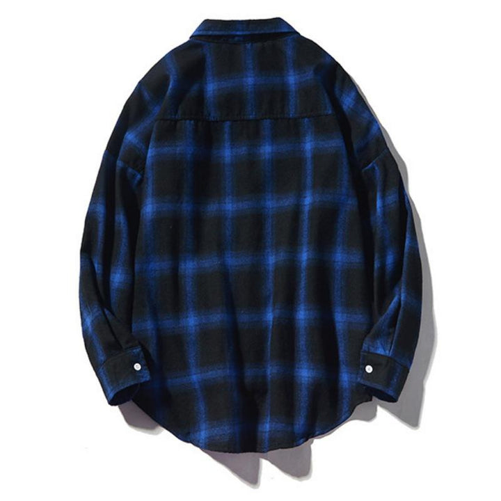 Men's Autumn Casual Plaid Long Sleeved Shirt