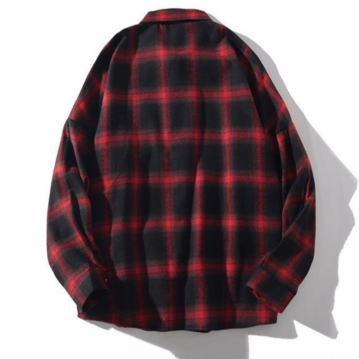 Men's Spring/Autumn Casual Plaid Long Sleeved Shirt