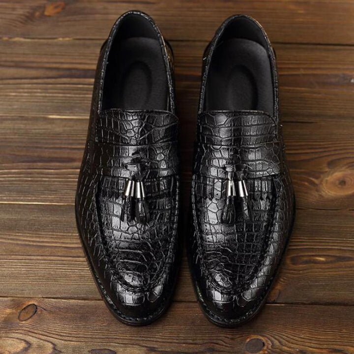 Men's Leather Loafers With Tassels