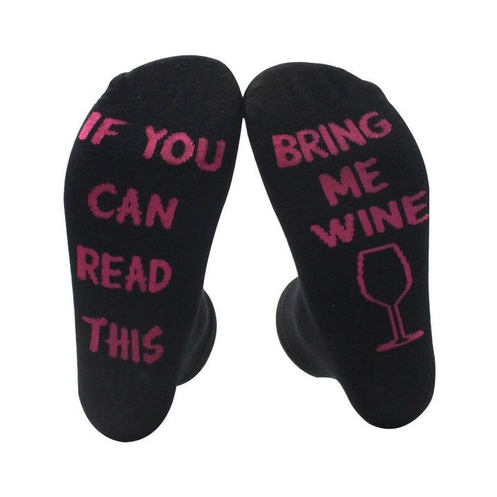 Women's/Men's Casual Cotton Socks With Letter Print