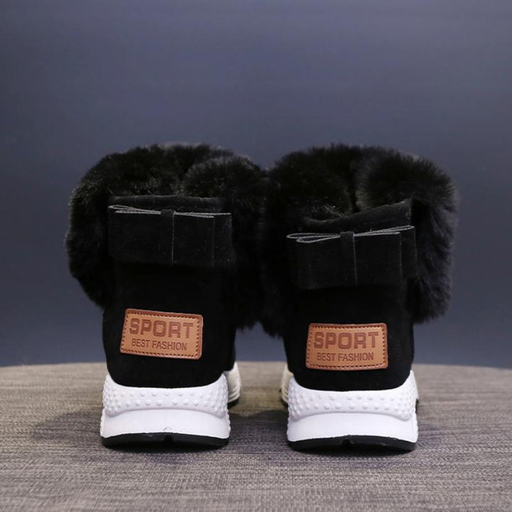 Women's Winter Waterproof Ankle Boots With Fur