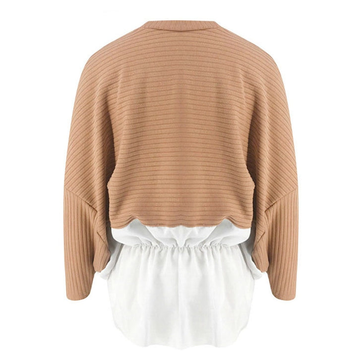 Women's Autumn/Winter Casual Lantern-Sleeved O-Neck Sweater