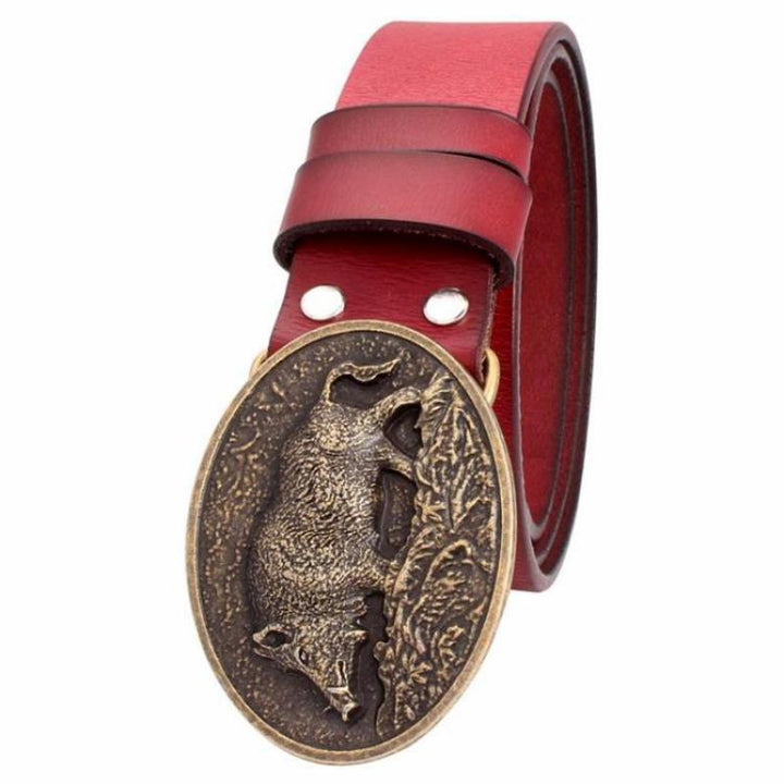 Men's Genuine Leather Belt With Metal Buckle