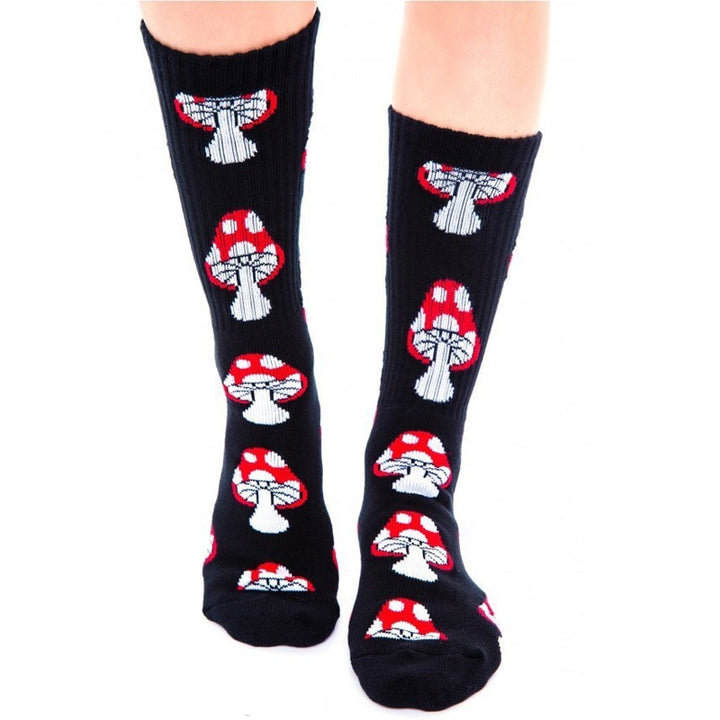 Women's/Men's Winter Casual Cotton Socks With Mushrooms Print