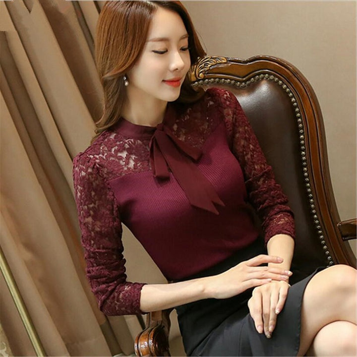 Women's Summer Casual Patchwork Long-Sleeved Blouse