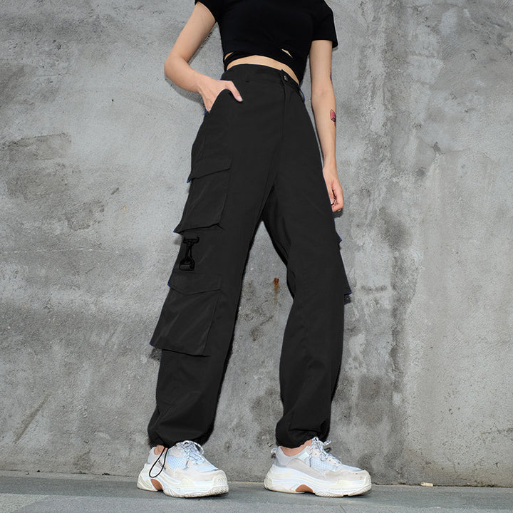 Women's Casual Spandex Loose High-Waist Joggers