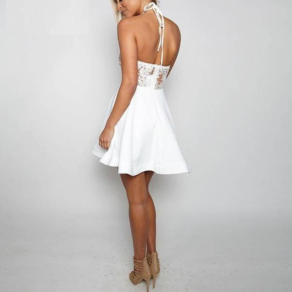 Dress – Backless Lace A-Line Dress | Zorket