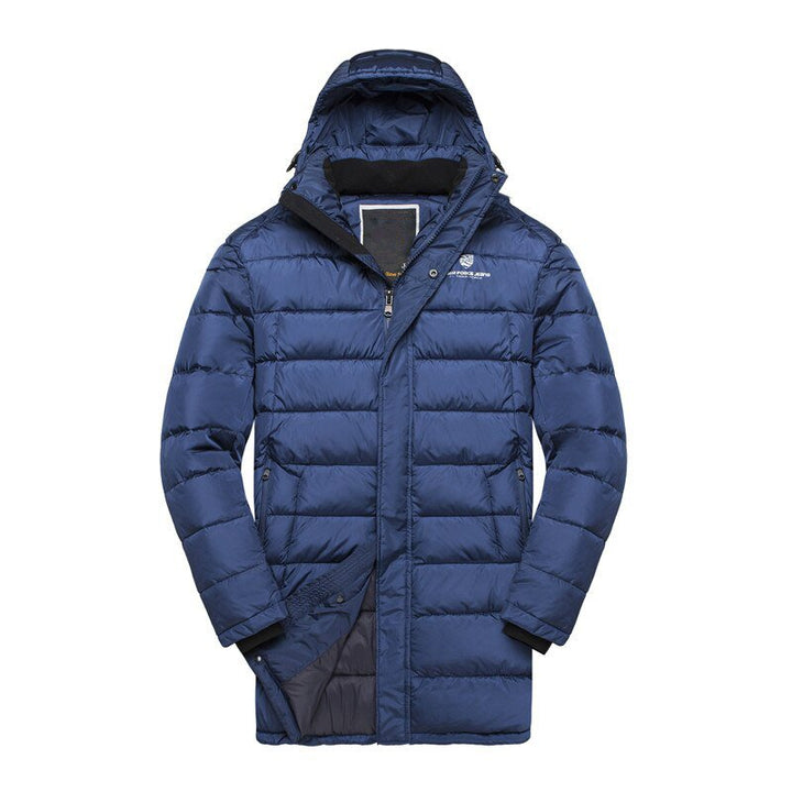 Men's Winter Casual Padded Hooded Medium-Long Coat
