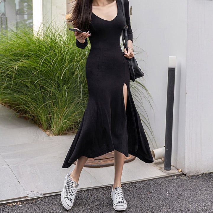 Women's Spring/Autumn Casual Sheath O-Neck Long Dress