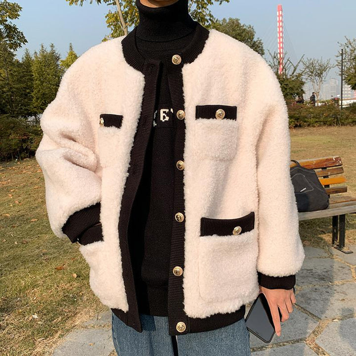 Men's Autumn Thick Warm Woolen Coat
