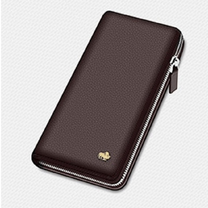 Men's Genuine Leather Wallet With Zipper