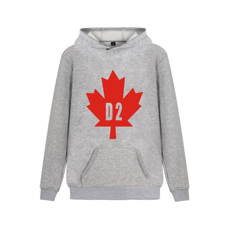 "Men's/Women's Casual Hoodie With Leaf Print ""D2"""