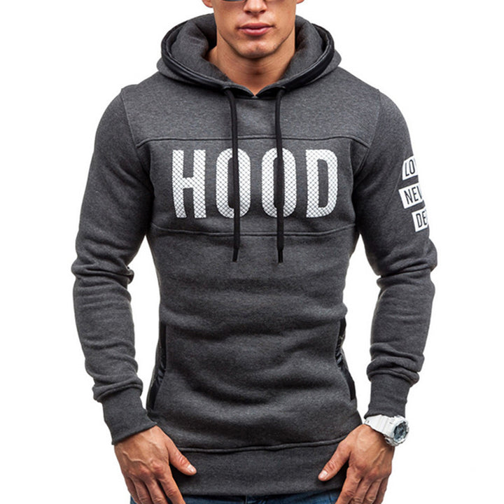 Men's Autumn/Winter Cotton Hooded Sweatshirt With Print