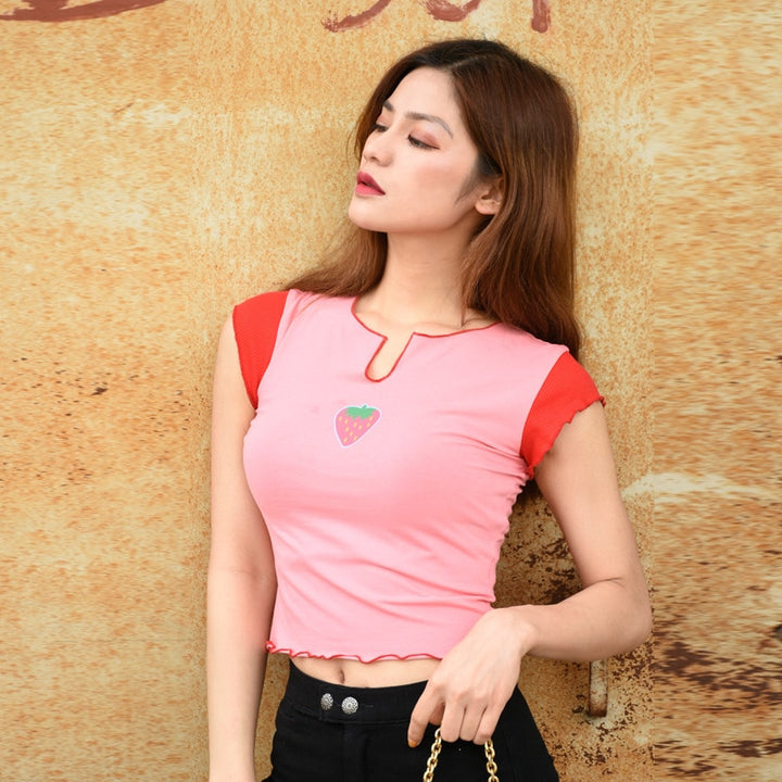 Women's Summer Casual Slim Cotton Short Sleeve T-Shirt
