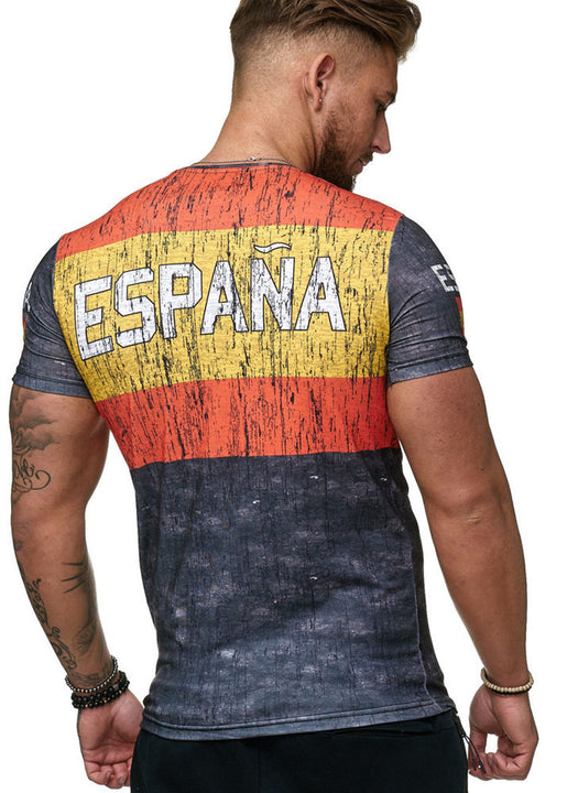 Men's T-Shirt With Flag Print