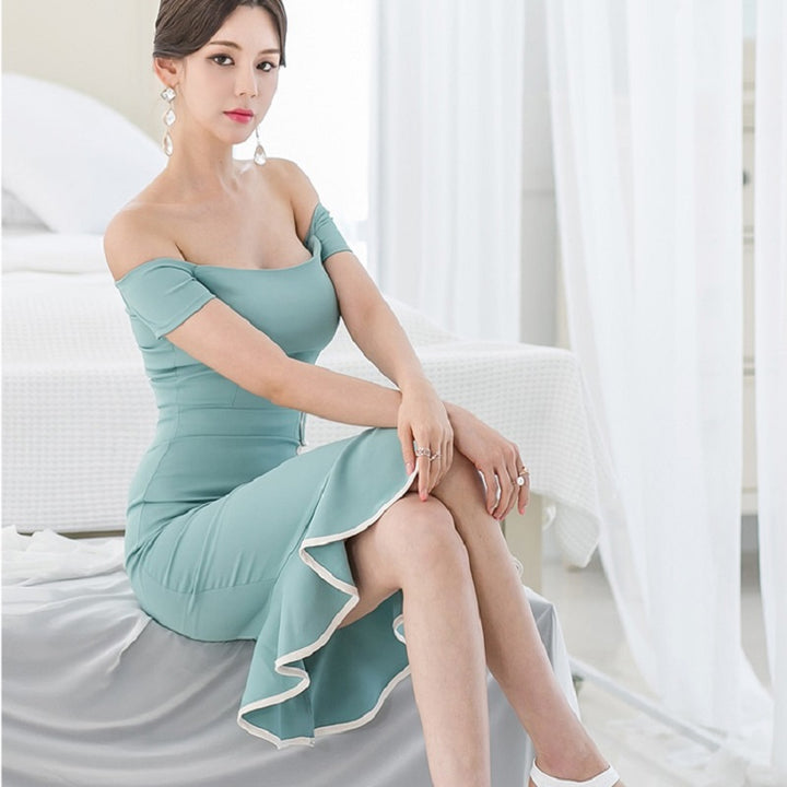 Women's Summer Sheath Sleeveless Off-Shoulder Dress
