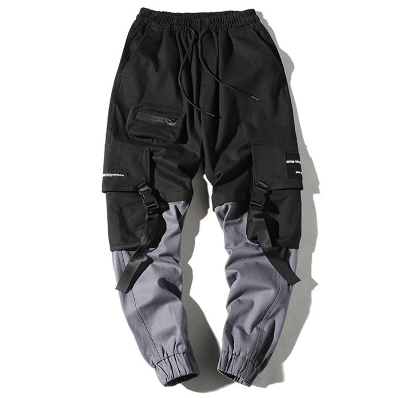 Men's Casual Cargo Pants With Ribbons