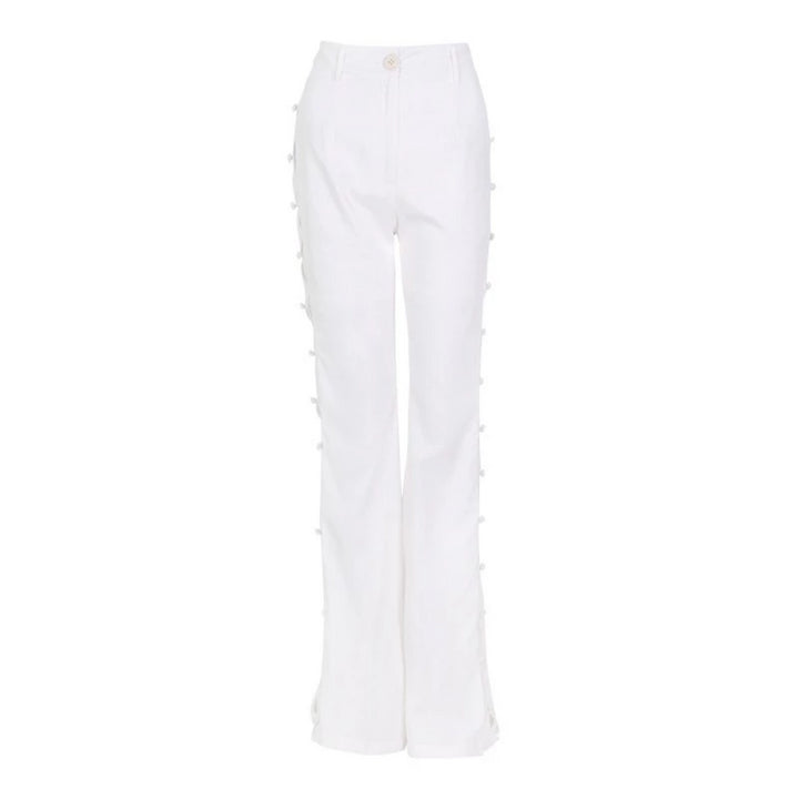 Women's Spring Casual Polyester Pants