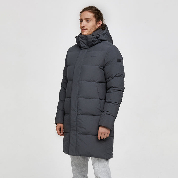 Men's Winter Casual Hooded Long Warm Parka