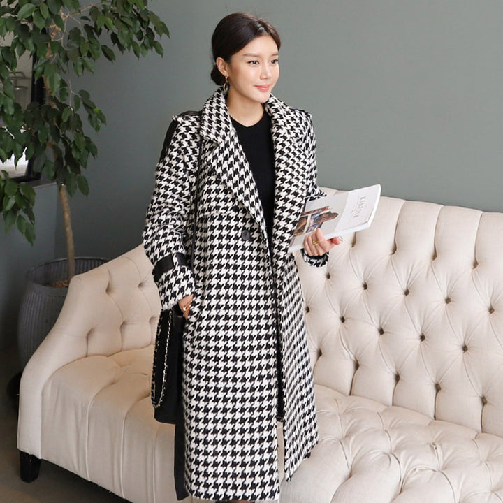 Women's Winter Casual Wool Loose Long Trench