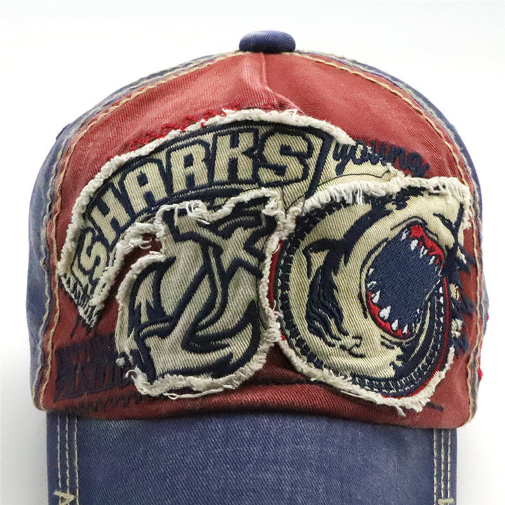 Men's/Women's Casual Baseball Cap With Embroidered Shark