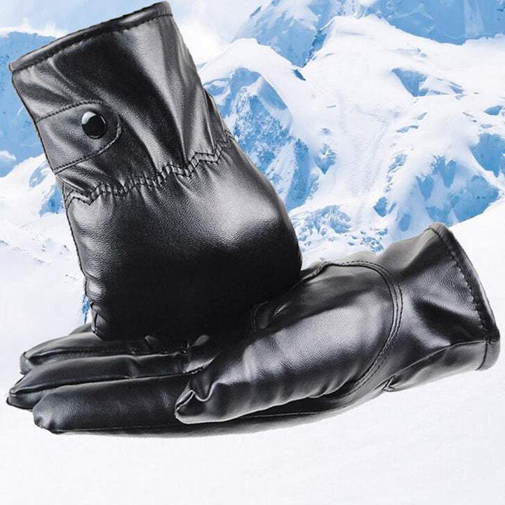 Men's Winter Leather Warm Gloves